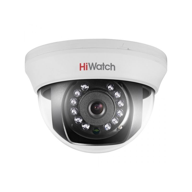 vnutrennie-kamery, analogovye-kamery, hd-tvi-kamery, kamery-videonabljudenija - Камера видеонаблюдения HiWatch DS-T101 (6 мм) - DS-T101 1Мп внутренняя купольная HD-TVI камера с ИК-подсветкой до 20м 1/4'' CMOS матрица объектив 6мм, угол обзора 56.7°, механический ИК-фильтр 0.1 Лк@F1.2 Smart ИК видеовыход: переключаемый HD-TVI/CVBS - 20°С...+45°С 12В DC±15%, 4Вт макс - primcam.ru - primcam_ru - примкам - videonabludenie vladivostok