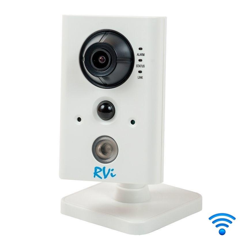 """oblachnye-kamery-i-s-zapisju-na-kartu-pamjati, wi-fi-kamery, ip-kamery - Wi-Fi камера видеонаблюдения RVi-IPC11SW (2.8 мм) - Фиксированная малогабаритная IP-камера; 1/4"""" КМОП, прогрессивная развертка; Формат сжатия: H.264/MJPEG; Максимальное разрешение и скорость трансляции: 1280х720, 25 к/с; Объектив: 2.8 мм; Нижний порог чувствительности: 0.01 лк @ F1.2 цвет / 0.028 лк @ F2 ч.б.; ИК-подсветка: до 10 метров; Режим «день-ночь»: Механический ИК-фильтр; Встроенный микрофон и динамик; Встроенный PIR датчик; Встроенный Wi-Fi; Управление качеством изображения ROI (область интереса); Встроенная видеоаналитика (контроль пересечения линии и области); «Коридорный» формат изображения; Работа с NAS-накопителями; Тревожный вх./вых.: 1/1; Запись на MicroSD карту до 64 ГБ; Соответствие стандартам ONVIF; Питание: PoE / DC 12 В; Диапазон рабочих температур: -10°С...+60°С; Габаритные размеры: 66х104х38мм; Вес: 400 г; Встроенный web-сервер. ПО RVi-Оператор - primcam.ru - primcam_ru - примкам - videonabludenie vladivostok"""
