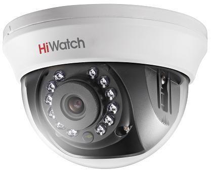 vnutrennie-kamery, analogovye-kamery, hd-tvi-kamery, kamery-videonabljudenija - Камера видеонаблюдения HiWatch DS-T101 (2.8мм) - DS-T101 (2,8мм) 1Мп внутренняя купольная HD-TVI камера с ИК-подсветкой до 20м 1/4 CMOS матрица объектив 2.8мм (3,6мм, 6мм опционально) угол обзора 92°(2.8мм), механический ИК-фильтр 0.1 Лк@F1.2 Smart ИК видеовыход: переключаемый HD-TVI/CVBS - 20°С...+45°С 12В DC±15%, 4Вт макс - primcam.ru - primcam_ru - примкам - videonabludenie vladivostok