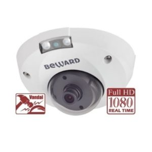 "vnutrennie-kamery, antivandalnye-kamery, ip-kamery - IP камера видеонаблюдения Beward B2710DMR (2.8 мм) - Антивандальная IP камера видеонаблюдения 2 Мп купольная антивандальная; 1/2.8"" КМОП SONY Exmor; 1920х1080 - 25 к/с; 2.8 мм; 0.01/0.005 Лк; ИК-подсветка 8 м; H.264/MJPEG; DWDR, 2D/3DNR; подключение внешнего активного микрофона 12В (0.5А); 12 DC/PoE; 5.8 Вт; IP66, -45...+50°С; Ø107х62 мм - primcam.ru - primcam_ru - примкам - videonabludenie vladivostok"