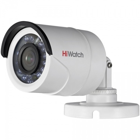 ulichnye-kamery, analogovye-kamery, hd-tvi-kamery - Камера видеонаблюдения HiWatch DS-T100 (3.6 мм) - DS-T100 (3.6мм), Уличная цилиндрическая HD-TVI камера 1Мп с ИК-подсветкой до 20м 1/4 CMOS матрица объектив 3.6мм, угол обзора: 70.9° механический ИК-фильтр 0.1 Лк@F1.2 DNR Видеовыход: HD-TVI или CVBS IP66 -40°С...+60°С 12В DC±15%, 4Вт макс - primcam.ru - primcam_ru - примкам - videonabludenie vladivostok