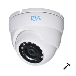 """ulichnye-kamery, antivandalnye-kamery, analogovye-kamery, hd-tvi-kamery, hd-cvi-kamery, ahd-kamery - Камера видеонаблюдения RVi-HDC321VB (3.6 мм) - Видеокамера 4х форматная (AHD/TVI/CVI/960h) Mix-HD цветная купольная уличная антивандальная со встроенной ИК подсветкой (механический ИК фильтр), ДЕНЬ/НОЧЬ; 1/2.7"""" КМОП 2МП(1920x1080) ; 0,02/0 лк (ИК-подсветка); f=3.6 мм; дальность ИК подсветки 30 м Smart IR; S/N: 65 dB; BLC / HLC / DWDR; DC12 В /230 мА; ∅94 x80 мм; -40°…+60°C.; IP-66; Для перевода камеры из одного стандарта в другой необходим контроллер RVi-UTC01 - primcam.ru - primcam_ru - примкам - videonabludenie vladivostok"""