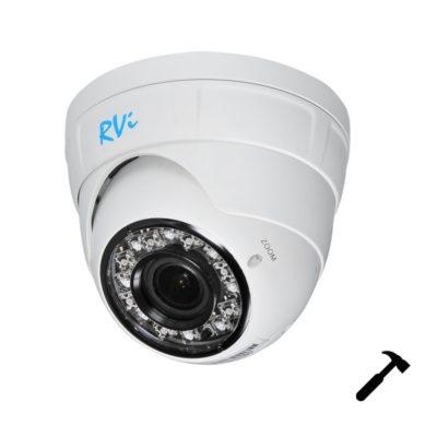 """ulichnye-kamery, oblachnye-kamery-i-s-zapisju-na-kartu-pamjati, kamery-videonabljudenija, antivandalnye-kamery, ip-kamery - IP камера видеонаблюдения RVi-IPC34VB (3.0-12 мм) - RVi-IPC34VB (3.0-12 мм) Антивандальная IP-камера; 1/3"""" КМОП-матрица, Максимальное разрешение и скорость трансляции: 2688х1512 @ 15 к/с, 2304х1296 @ 20 к/с, 1920х1080 @ 25 к/с; Нижний порог чувствительности: 0.01 лк @ F1.6 цвет / 0 лк (ИК вкл.); Режим «день-ночь»: Механический ИК-фильтр; Вариофокальный объектив: 3.0-12 мм c АРД; ИК-подсветка: до 30 метров; Соответствие стандартам ONVIF; Аудио: 1вх/1вых; MicroSD, до 128Гб; Класс защиты: IP66; Диапазон рабочих температур: -40°С… +50°С; Питание: PoE 802.3af / DC 12 В, до 7.5 Вт; Габаритные размеры: Ø120×105.5 мм; Вес: 792 г. В комплекте поставляется бесплатное профессиональное программное обеспечение RVi-SmartPSS - primcam.ru - primcam_ru - примкам - videonabludenie vladivostok"""