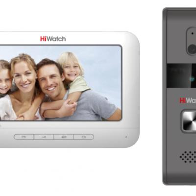 videodomofony - КОМПЛЕКТ ВИДЕО ДОМОФОНА HIWATCH DS-D100K -  - primcam.ru - primcam_ru - примкам - videonabludenie vladivostok